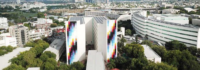 Small pantone mural agency arto studio mexico