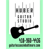 Small huber guitar studio logo aqua green