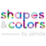 Small shapes and colors logo jolinda