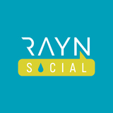 Small rayn social color on blue rgb