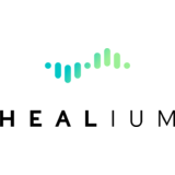 Small healium logo color dark