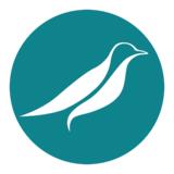 Small robinfern logo symbol teal