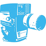 Small camera 1 blue 1 icon