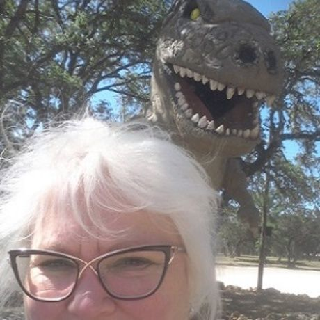 T rex photo bomb cropped