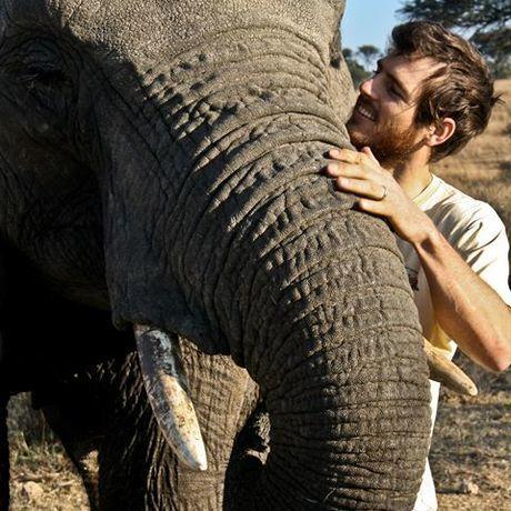 Steve with elephant