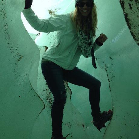 Inside the glacier chile
