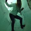 Small inside the glacier chile