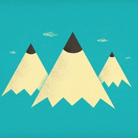 Pencil mountains