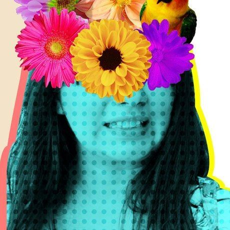 Flores na cabeza