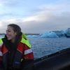 Small glacier lagoon iceland
