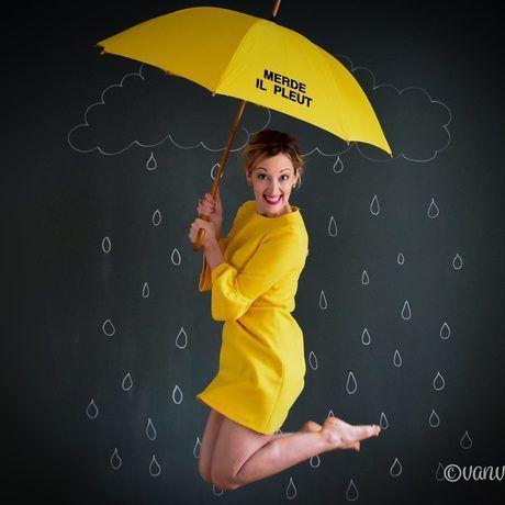 Yellow rain jumping