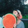 Small watermelon creative womens picnic harmo
