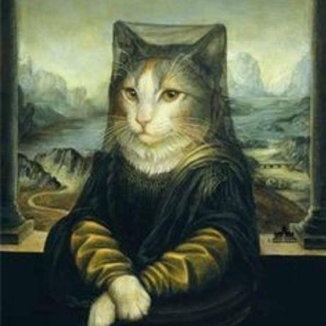 Mona lisa cat art