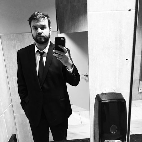 Suit selfie