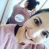 Small instagram dusty pink crop sweatshirt