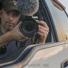 Small self portrait car mirrorsm
