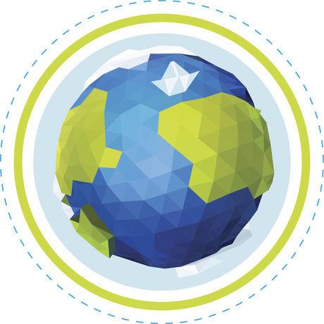 Planeta origami logo