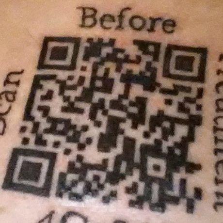 Qr tattoo