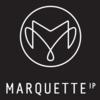 Small 2019 marquette   ip   monogram   logo   white on black