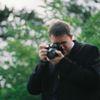 Small der fotograf wird selbst fotografiert aber unscharf