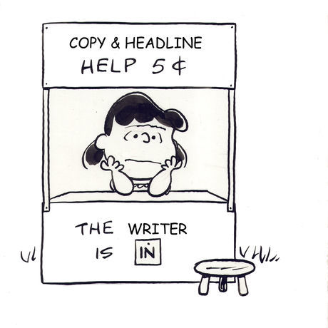 The writer is in