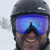 Small joe skiing face