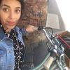 Small on bike