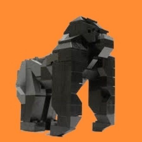 Gorilla lego orange