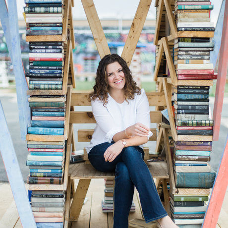 Elizabeth hope derby with books