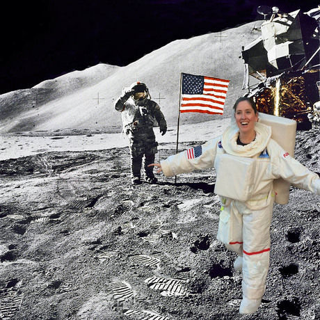 Andrea on moon