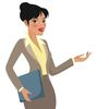 Small businesswoman cartoon making presentations vector 3577872