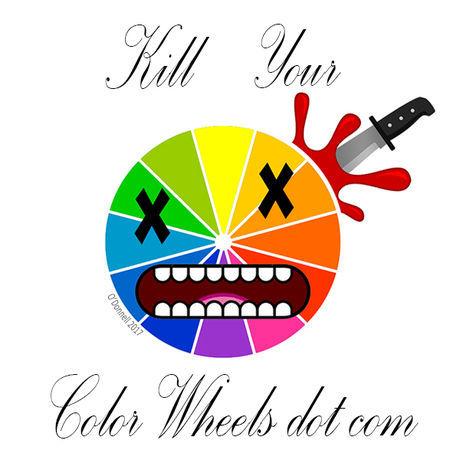 Killyourcolorwheels sticker square 2x2