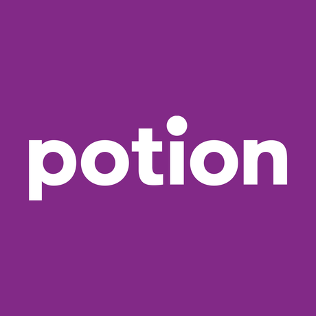 Potionlogo 1x1 white purplebg 4096x4096