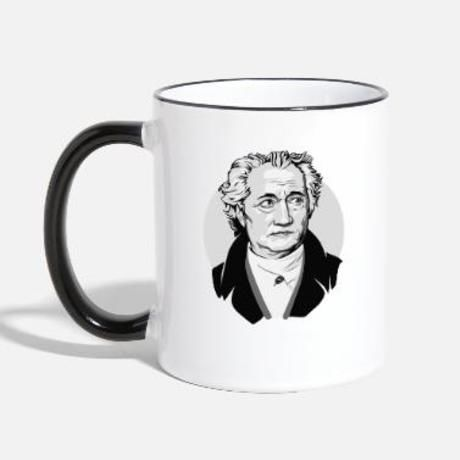Goethe pop art drawing bust black white tazza bicolor