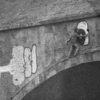 Small tagger on bridge