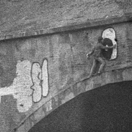 Tagger on bridge