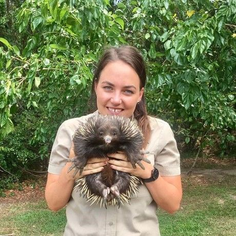 Alex with echidna  2
