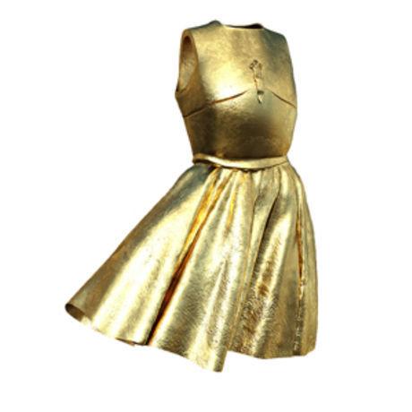Filippucci armor dress gold filippucci