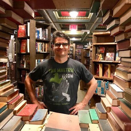 Mark in last bookstore