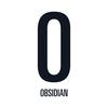Small obsidian logo vertical 1000px white
