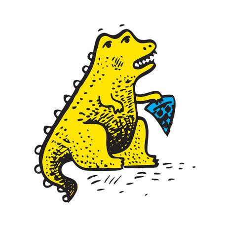 Dino pizza icon
