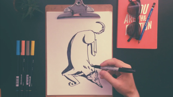 How to draw a greyhound